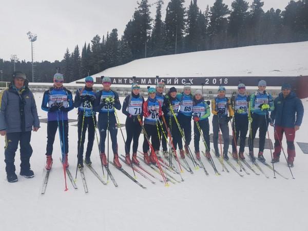 Юниорская сборная по биатлону завершила сборы в Ханты-Мансийске