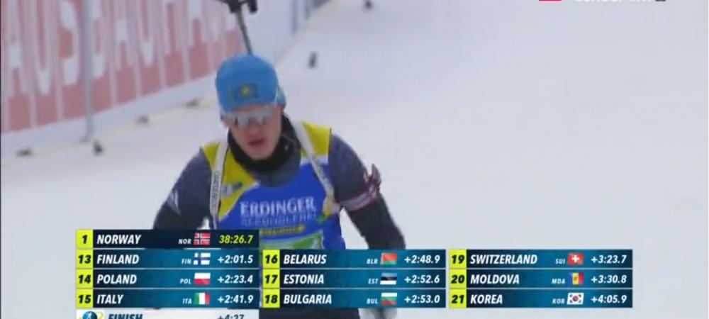 Казахстанские биатлонисты стали 22ми на гонке одиночной эстафеты в Поклюке