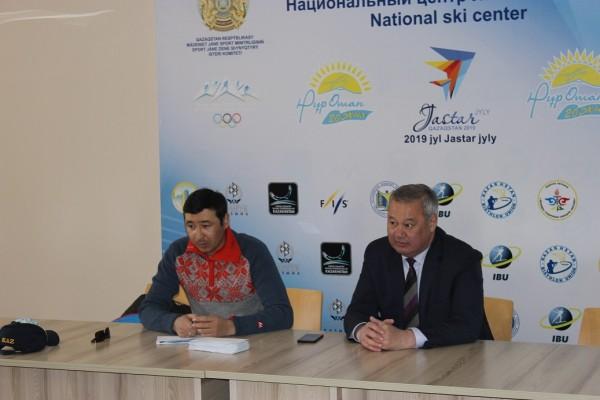 Президент Союза Биатлонистов Казахстана наградил Национальную Сборную РК по биатлону