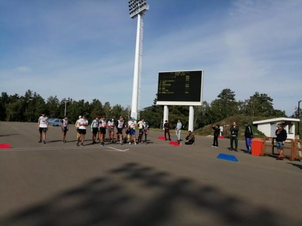 В Щучинске завершился первый день соревнований Чемпионата РК по летнему биатлону