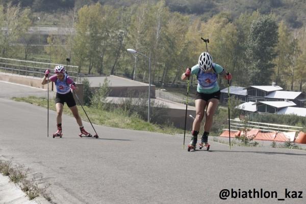 Галина Вишневская выиграла спринт среди женщин Летнего Чемпионата РК по биатлону
