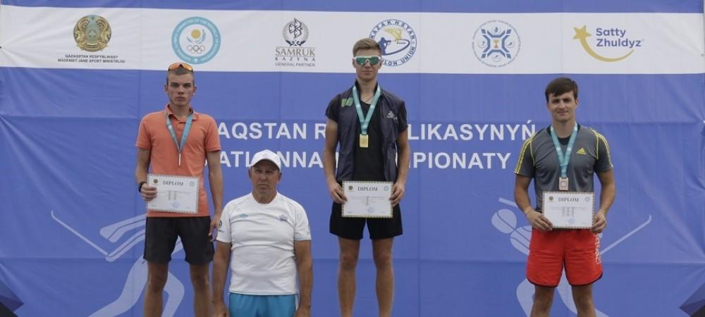Роман Еремин стал лучшим с масс-старте Летнего Чемпионата РК по биатлону