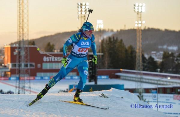 Женская команда Казахстана превысила отставание на круг в эстафете Эстерсунда