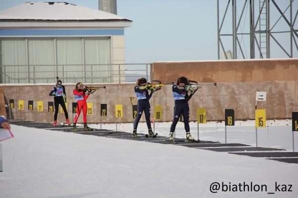 Результаты спринта женской половины Чемпионата РК по биатлону в Алматы