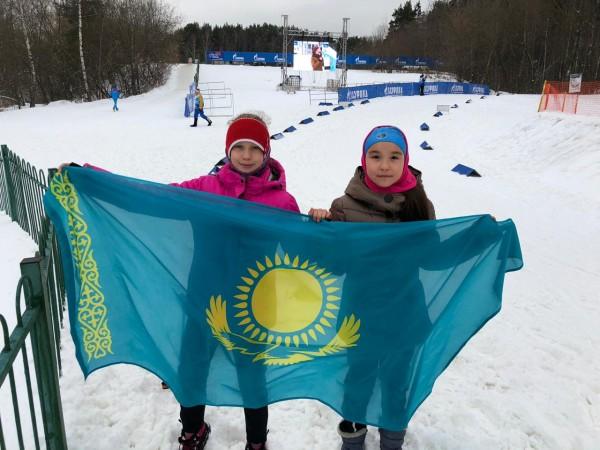 Юные биатлонисты из Казахстана принимают участие  соревнованиях под Москвой
