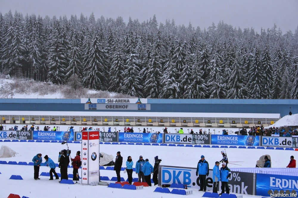 Расписание VI-го этапа Кубка Мира по биатлону в немецком Оберхоф, с 11 по 17 января