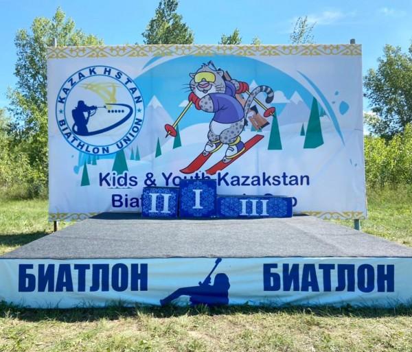 Детские соревнования на приз Кубка Союза биатлонистов Республики Казахстан